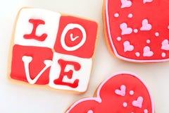 ciastka valentine Zdjęcie Stock