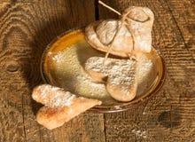 Ciastka w dzień walentynki Fotografia Royalty Free