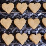 Ciastka w formie serc zdjęcia stock