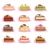 Ciastka w słodkiej czekoladzie i creme Fotografia Royalty Free