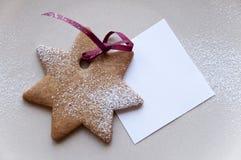 ciastka wakacyjna nutowego papieru kształtująca gwiazda Obrazy Stock