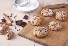 Ciastka wholemeal mąka z czekoladą Zdjęcie Royalty Free