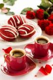 Ciastka Whoopi czerwieni aksamit Zdjęcia Royalty Free