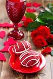 Ciastka Whoopi czerwieni aksamit Obrazy Royalty Free