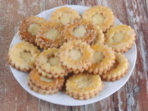 Ciastka z cytryny curd Zdjęcia Stock