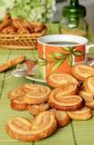 Ciastka z kawą Zdjęcia Royalty Free