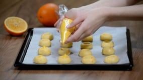 Ciastka z pomarańczowy marmoladowym Kulinarni ciastka z plombowaniem zbiory