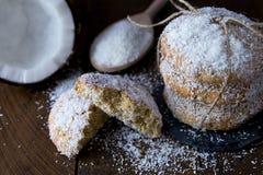 ciastko kokosowy deser zrobił tajlandzki tradycyjnemu Obrazy Stock