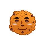 Ciastko sen Emoji biskwitowy emocja sen jedzenie odizolowane ilustracji