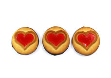 Ciastko z sercem, symbol miłość, walentynki ` s dzień Obrazy Stock