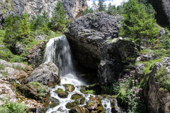 Ciastlins Waterfall, val de Ciastlins, Dolomites, Sudtirol Royalty Free Stock Images