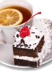 ciasto herbata Zdjęcia Stock