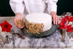 ciasto maskować szefa kuchni Obrazy Stock