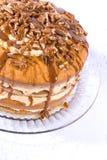 ciasto orzechowe sosowana karmelu pączuszku Zdjęcia Stock