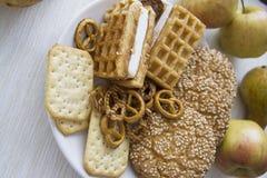 Ciasto produkcja z bonkretami 08 Fotografia Royalty Free