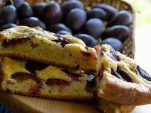 ciasto przetargów śliwki Fotografia Stock