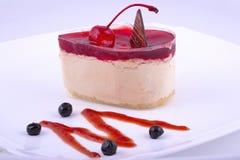 Ciasto przy talerzem Zdjęcie Stock