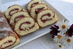 Ciasto - rulltarta Zdjęcia Stock