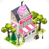 Ciasto sklepu miasto Buduje 3D Isometric Obraz Royalty Free