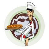 Ciasto szef kuchni Obrazy Stock