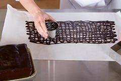 Ciasto szef kuchni w kuchni Fotografia Stock