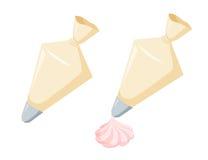 Ciasto torba z śmietanką ilustracji