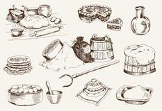 Ciasto w domu royalty ilustracja