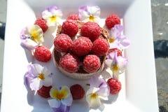Ciasto z malinkami zdjęcie stock