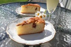 Ciasto z Szwedzkim jabłkiem i cynamonem Fotografia Stock