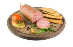 Ciauscolo italiano do salame imagem de stock