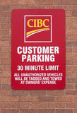 CIBC Customer Parking Sign Stock Images