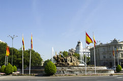 Cibeles喷泉。马德里。西班牙。 图库摄影