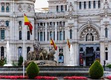 cibeles喷泉马德里西班牙 免版税库存照片