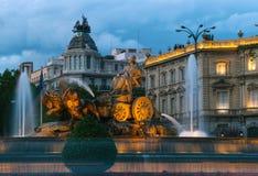 Cibeles喷泉,马德里 库存图片