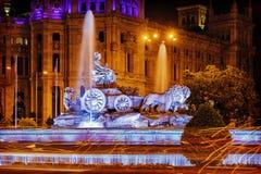 Cibeles喷泉-在同一个名字的正方形的一个喷泉 免版税库存照片
