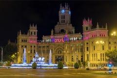 Cibeles在马德里摆正(Plaza de la Cibeles) 免版税图库摄影