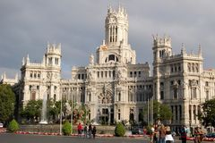 Cibeles宫殿-马德里 免版税库存照片