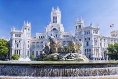 cibeles πηγή Μαδρίτη Ισπανία Στοκ εικόνες με δικαίωμα ελεύθερης χρήσης