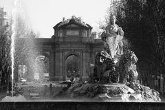 Cibeles and Alcala Stock Photos
