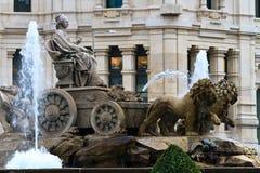 cibeles de fountain Μαδρίτη plaza Στοκ φωτογραφία με δικαίωμα ελεύθερης χρήσης