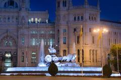 cibeles de fountain Μαδρίτη plaza Ισπανία Στοκ Φωτογραφία