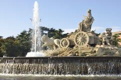 cibeles de fountain Μαδρίτη plaza Ισπανία Στοκ Φωτογραφίες