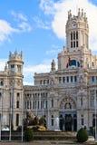 cibeles de Madrid palacio Fotografia Stock