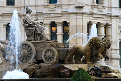 cibeles de springbrunn madrid plaza Royaltyfri Foto