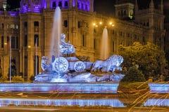 Cibeles fontanna - fontanna w kwadracie ten sam imię wewnątrz zdjęcia royalty free