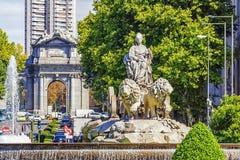 cibeles fontanna Madrid Spain obrazy stock