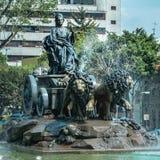 Cibeles fontanny replika w Meksyk fotografia royalty free