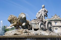 Cibeles Fountain Stock Image