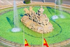 Cibeles Fountain Fuente de Λα Diosa Cibeles, Fontano Cibelo Στοκ εικόνα με δικαίωμα ελεύθερης χρήσης