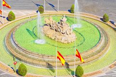 Cibeles Fountain Fuente de Λα Diosa Cibeles, Fontano Cibelo Στοκ Εικόνες